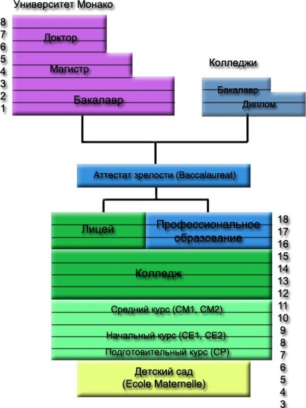 Система образования в Монако Русское агентство студенческий  Система образования в Монако